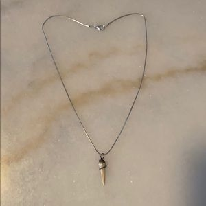 Stainless Steel Shark Tooth Necklace